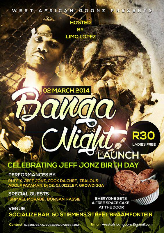 TONIGHT GROW DIGGA'S FIRST LIVE PERFORMANCE IN SOUTH AFRICA, JOBURG!!! happenin @ kitchenas braamfontien 2nyte from 6:00